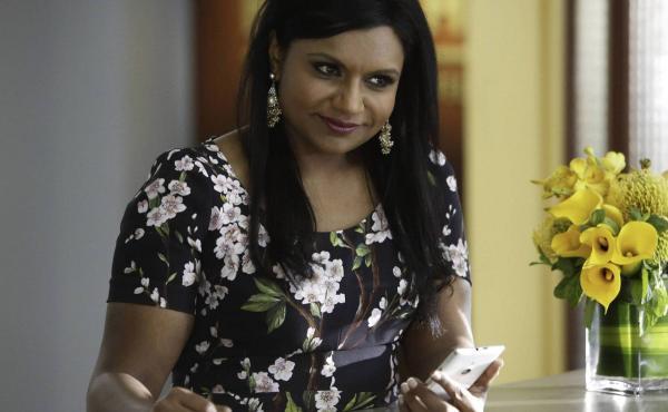 Mindy Kaling as Dr. Mindy Lahiri in The Mindy Project.