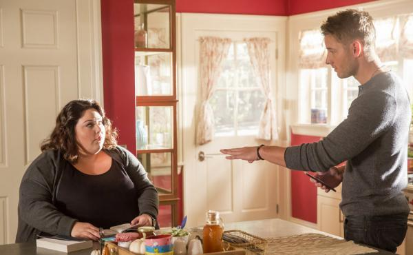 Kate (Chrissy Metz) and Kevin (Justin Hartley) in the NBC drama This Is Us.