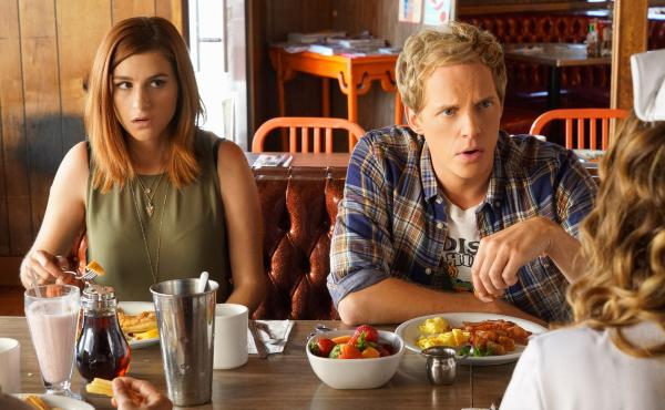 Gretchen (Aya Cash) and Jimmy (Chris Geere) in You're The Worst.