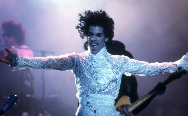 Prince performs live at the Fabulous Forum on Feb. 19, 1985, in Inglewood, Calif.