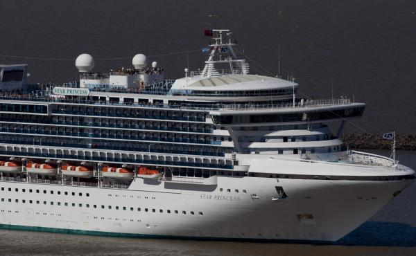 A Princess Cruise Line ship leaves Buenos Aires' port in Argentina in 2012.