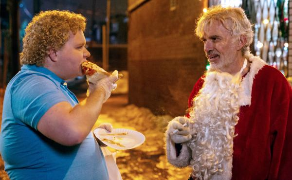 Brett Kelly stars as Thurman Merman and Billy Bob Thornton as Willie Soke in Bad Santa 2.