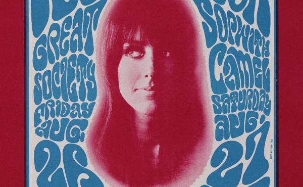 A Wes Wilson poster promoting the 13th Floor Elevators, Great Society, Sopwith Camel at the Fillmore Auditorium on August 26 and 27, 1966.