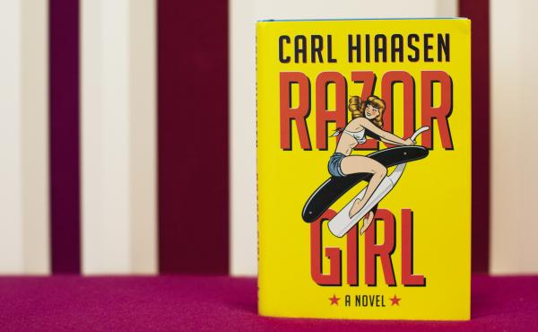 Razor Girl by Carl Hiaasen (Emily Bogle/NPR)