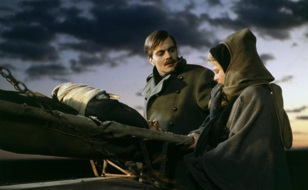 Omar Sharif in one of his signature roles, the revolutionary poet Doctor Zhivago in the film of the same name.