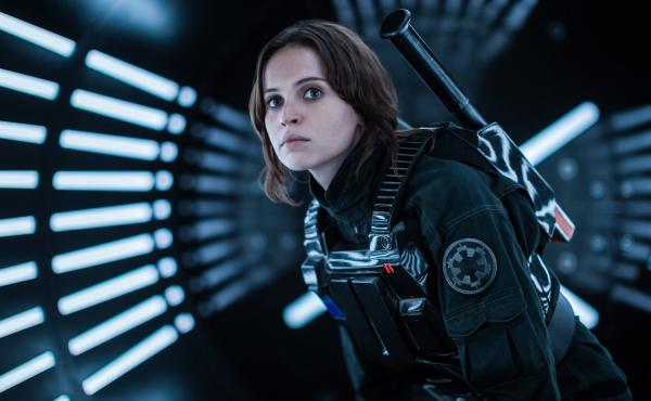 Felicity Jones plays Jyn Erso in Rogue One: A Star Wars Story.