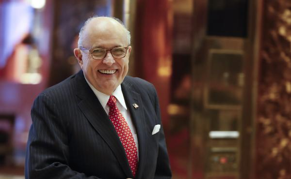 Former New York City Mayor Rudy Giuliani to advise President-elect Trump on cyber security.
