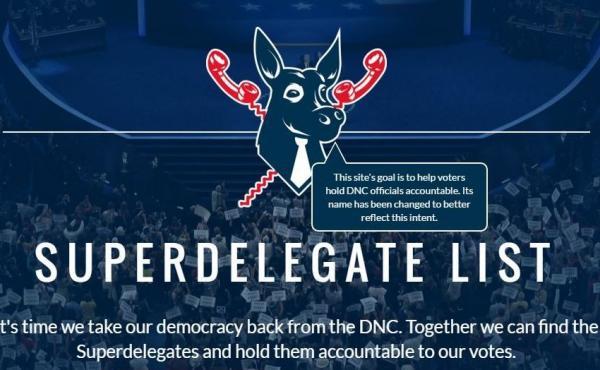 Homepage of Superdelegatelist.com