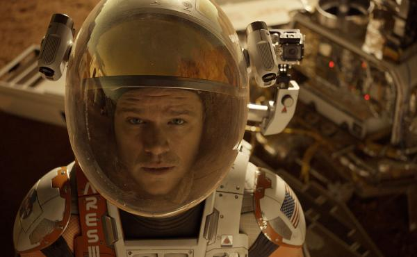 Astronaut Mark Watney (Matt Damon) gets stranded on Mars in The Martian.