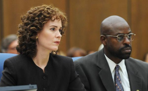 Sarah Paulson plays prosecutor Marcia Clark and Sterling K. Brown plays fellow prosecutor Christopher Darden in the FX series The People v. O.J. Simpson: American Crime Story.