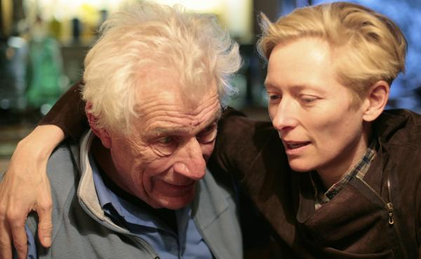 Writer and critic John Berger and friend Tilda Swinton in the new documentary The Seasons in Quincy.