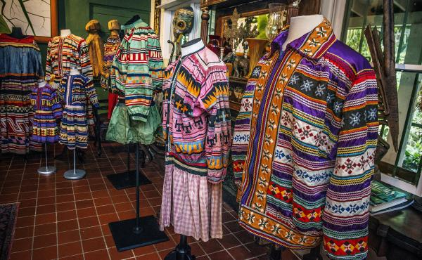 Vintage Seminole patchwork on display at the home of Patsy West, in Fort Lauderdale, Fla.