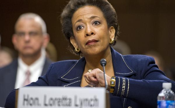 Loretta Lynch, U.S. attorney for the Eastern District of New York, testifies before the Senate Judiciary Committee on Jan. 28. The panel voted Thursday to send her nomination to be U.S. attorney general to the full Senate.