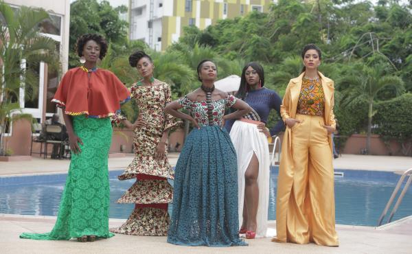 The characters of An African City (from left): Zainab, Ngozi, Nana Yaa, Sade and Makena.