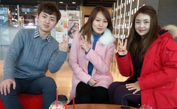 """Han Seohee (right) and fellow North Korean defectors Lee Gwang-sung (left) and Hwang Soyeon (center) are regulars on Moranbong Club, a South Korean talk show featuring North Korean defectors. """"There's a lot of prejudice toward North Korean defectors in So"""