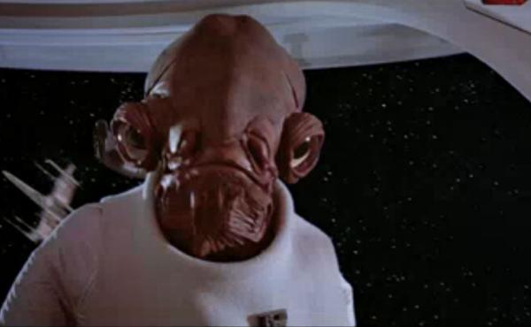 "Admiral Ackbar pauses before delivering his immortal line: ""It's a trap!"" Voice actor Erik Bauersfeld, who uttered those words, has died."