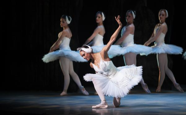 Misty Copeland (center) performed in the Washington Ballet production of Swan Lake in April.