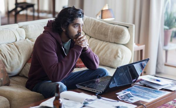 Saroo (Dev Patel) searches for his mother in Lion.