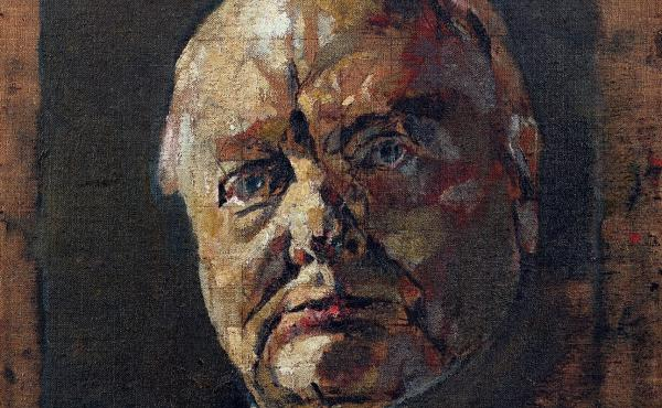 Winston Churchill was so displeased with Graham Sutherland's portrait that his wife asked his secretary to destroy it. Pictured here is a preparatory sketch.
