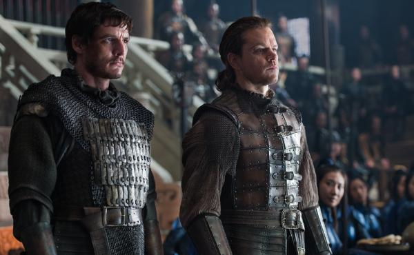 """... For The Night Is Dark And Filled With Lizard-People"": Pero (Pedro Pascal) and William (Matt Damon) in The Great Wall."
