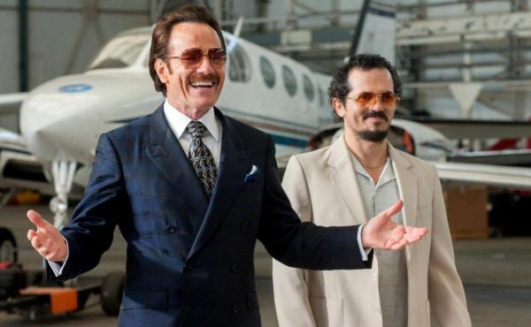 Robert Mazur (Bryan Cranston) and  Emir Abreu (John Leguizamo) in The Infiltrator.