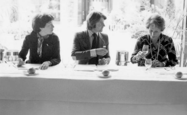 """Patricia Gallagher (from left), who first proposed the tasting; wine merchant Steven Spurrier; and influential French wine editor Odette Kahn. After the results were announced, Kahn is said to have demanded her scorecard back. """"She wanted to make sure tha"""