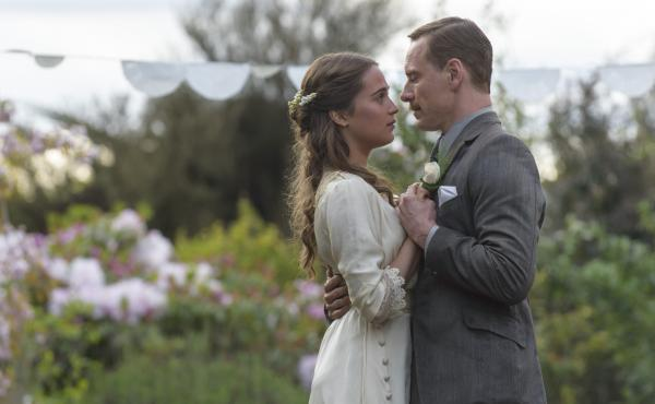 Isabel (Alicia Vikander) and Tom (Michael Fassbender) make a life for themselves on a remote island in The Light Between Oceans.