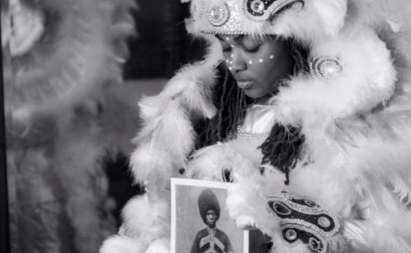 "Though the Mardi Gras Indian who appears in ""Lemonade"" is a young woman, most people who mask and parade as part of the tradition are male."