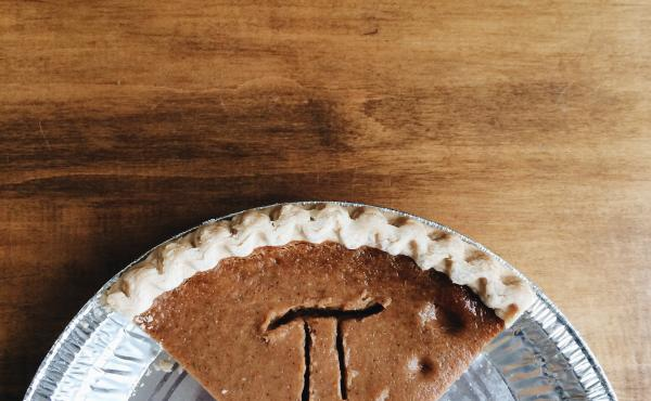 Pumpkin pie with Pi letter