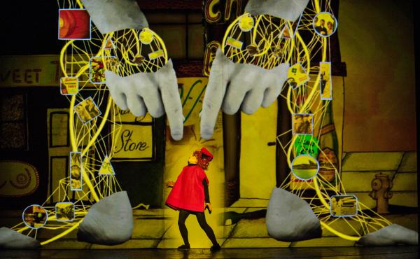 The British theater company 1927 performs its latest play, Golem, based on the character from ancient Jewish folklore. The troupe's trademark is vintage style combined with distinctive animation.