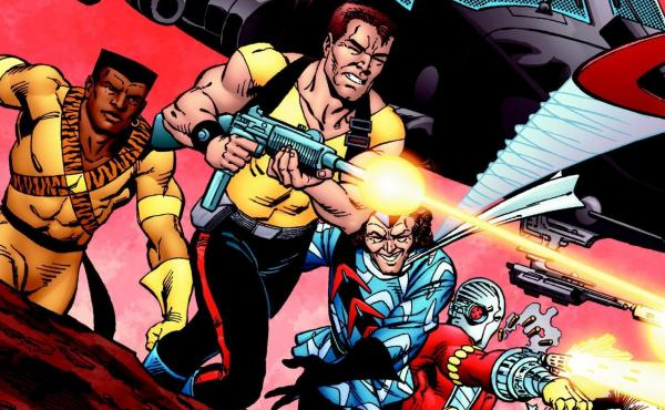 Cover of the first trade collection of the 1980s comics series Suicide Squad.