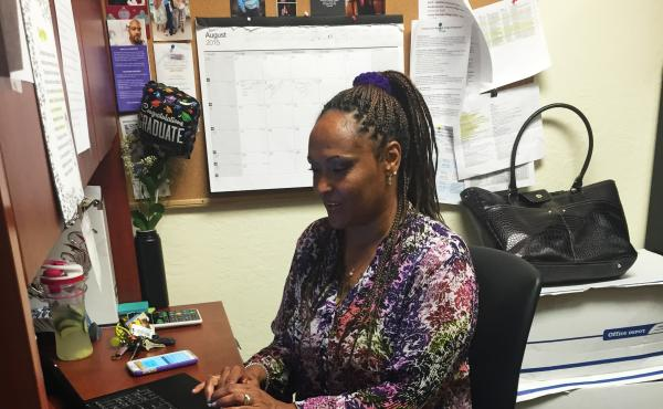 Sholonda Jackson works at Operation Dignity, a nonprofit in Oakland, Calif., that provides housing to homeless veterans. California's Proposition 47 enabled the former crack addict to seek a reduction of her drug felonies to misdemeanors. She has earned a