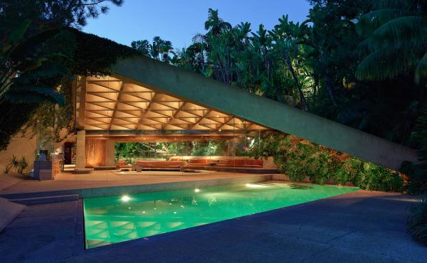 "James Goldstein has just announced that he will donate his landmark Los Angeles residence — designed by architect John Lautner --€"" to the Los Angeles County Museum of Art. ""Minimal is the word ... "" he says. ""Everything is simple and at the same time"
