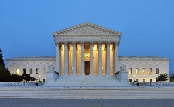 The United States Supreme Court Building in Washington.
