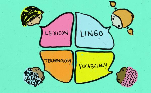 Students learning lexicon