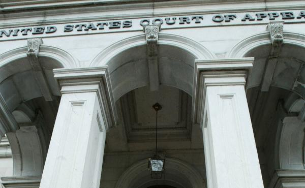The U.S. Department of Justice filed an appeal to a federal judge's temporary block of the president's second travel ban at the Fourth Circuit Court of Appeals in Richmond, Virginia.