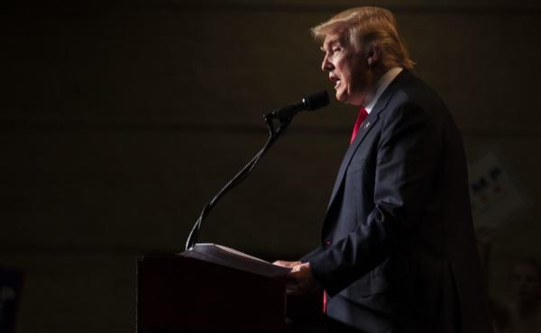 Donald Trump speaks at a rally in Green Bay, Wis., on Aug. 5. Michael Kranish and his colleague Marc Fisher are the authors of Trump Revealed, a biography about Trump's life and career that is based on the work of more than 20 of the Post's reporters, edi