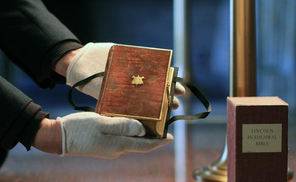 The Lincoln Bible is part of the collection at the Library of Congress.