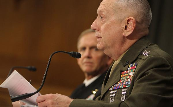 Former Marine Corps Gen. James Mattis, now President-elect Donald Trump's nominee to lead the Defense Department, at a 2011 congressional hearing.