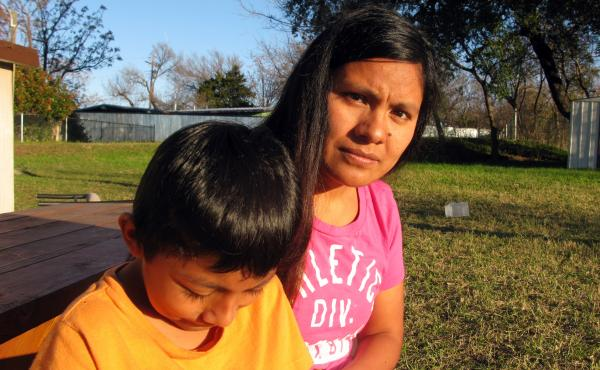 The government last year denied the asylum request of Hilda Ramirez and her son, Ivan. They recently were taken in by St. Andrew's Presbyterian Church in Austin, Texas.