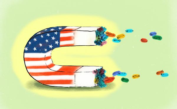 U.S. is a magnet attracting students from other countries