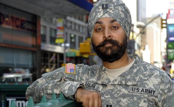 Dr. Kamal Kalsi had to apply for special permission from the Department of Defense in order to keep his beard and turban while serving in the military.