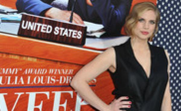 Actress Anna Chlumsky attends the Los Angeles premiere for the second season of HBO's series 'Veep' at Paramount Studios.