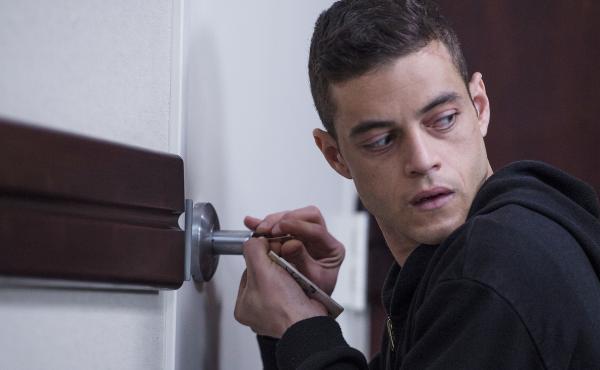 Rami Malek plays genius hacker Elliot Alderson in Mr. Robot.