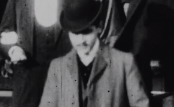 Could this dapper gentleman be Marcel Proust? If it is, as a Canadian professor believes, it would mark the first time the great French author was found in film footage.