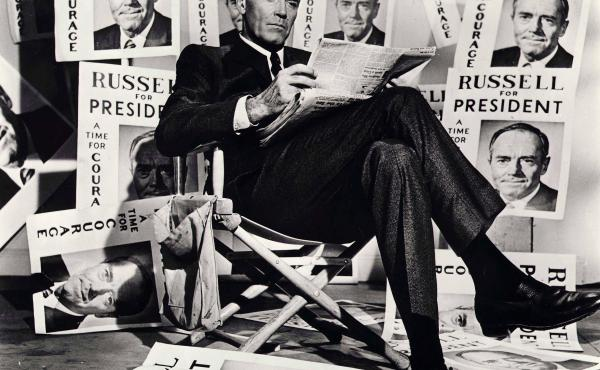 In 1964's The Best Man, presidential candidate and principled intellectual William Russell (Henry Fonda) competes with a TV-savvy opportunist at his (unspecified) party's convention.