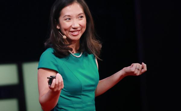 Leana Wen on stage at the TEDMED conference.
