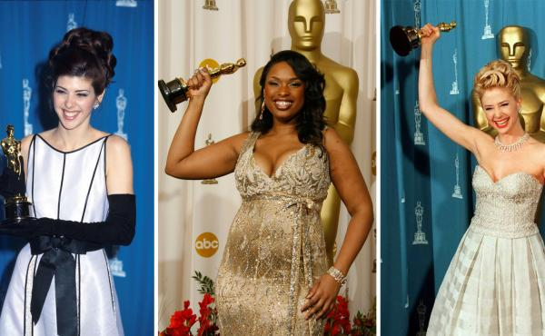 """As legend has it, women's film careers are """"cursed"""" by winning the best supporting actress Academy Award. (From left) winners Marisa Tomei in 1993, Jennifer Hudson in 2007 and Mira Sorvino in 1996."""