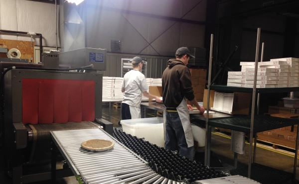 """A view inside the Kern's Kitchen factory in Louisville, Ky. Though lots of people in Kentucky have their own versions of what they call """"derby pie,"""" the Kern family trademarked the name """"Derby-Pie"""" decades ago. And the Kerns are quite vigilant about prote"""