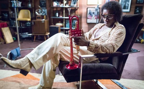 Don Cheadle as Miles Davis in Miles Ahead.